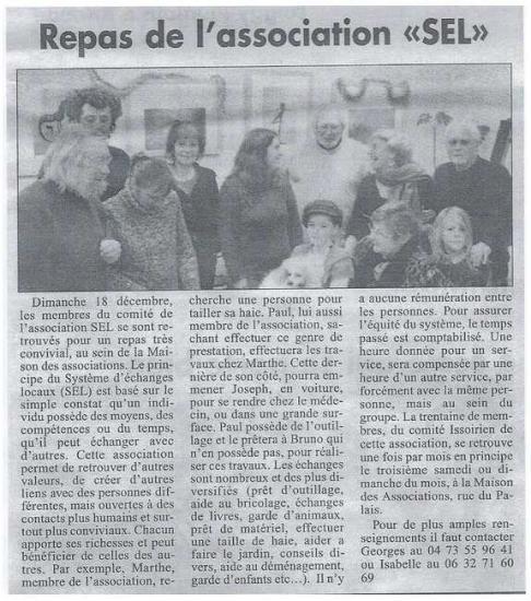 article la montagne déc 2011