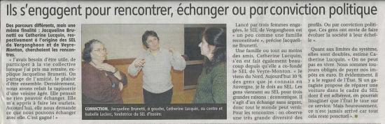 article réunion d'info fevrier 2011 la montagne